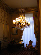 Photo: The small Departure Room (so named as an entrance to the main Senate chamber), with a desk from the First French Empire (Napoleon I), and Louis XV-style chairs from the Second French Empire (Napoleon III).
