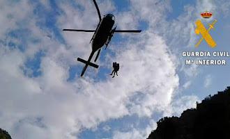 El rescate de la mujer de Dalías en helicóptero