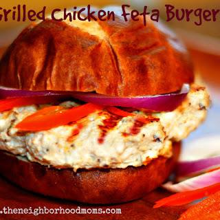 Grilled Greek Chicken Feta Burger