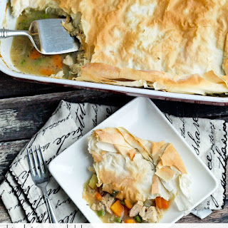 Lightened Up Turkey or Chicken Pot Pie {dairy-free}