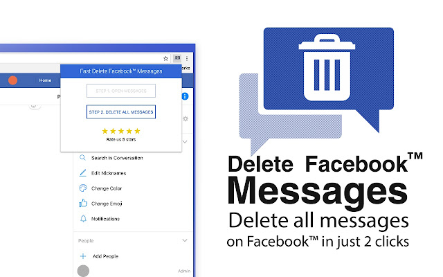 Fast Delete Facebook™ Messages