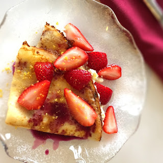 Strawberry and Ricotta Crepes.