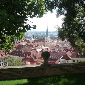 Prague Roofs - 2 by Yury Tomashevich - City,  Street & Park  Neighborhoods ( cityscapes, cities, green, brown, cityscape, prague, city,  )