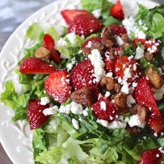 Strawberry Salad with Poppyseed Dressing.