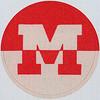Vintage Sticker Letter M