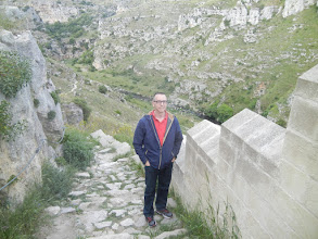 Photo: Chris on our walk