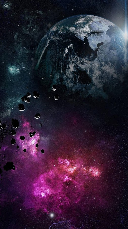 Asteroids Live Wallpaper- screenshot