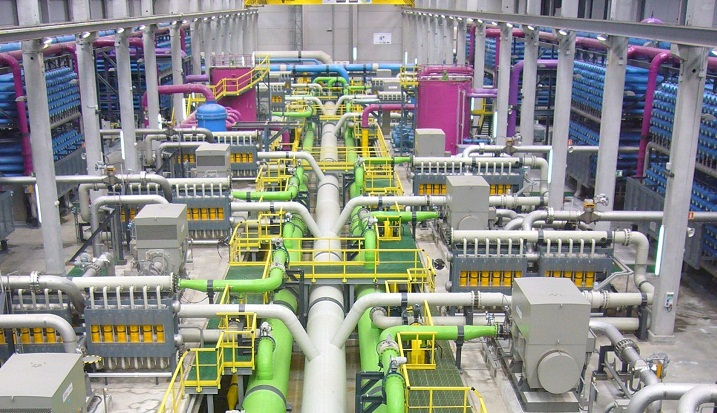 A large-scale desalination plant. Picture: SUPPLIED
