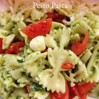 Mozzarella and Chilli Pesto Pasta