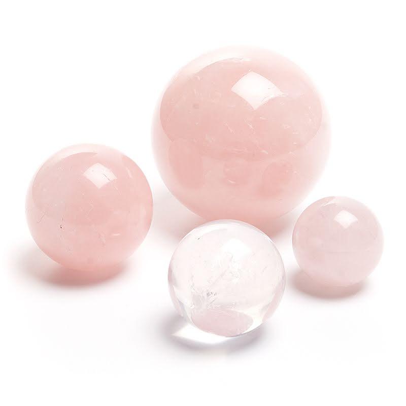 Rosenkvarts, kristallkula
