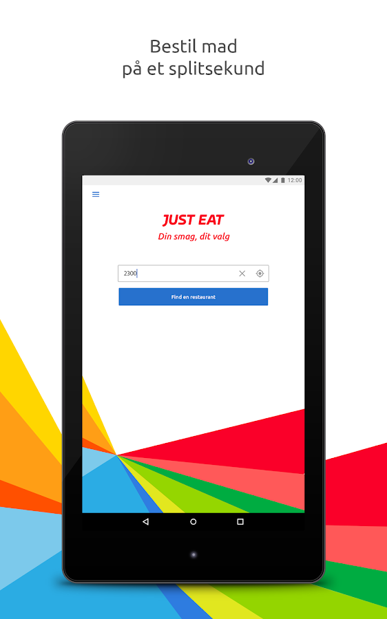 Just Eat – Bestil Take Away- screenshot
