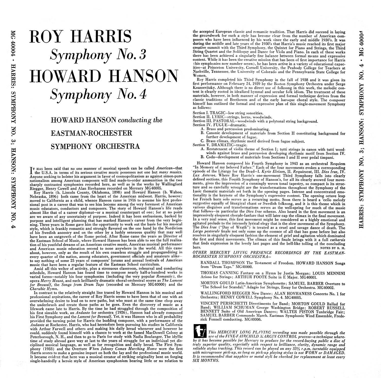 Howard Hanson, Roy Harris