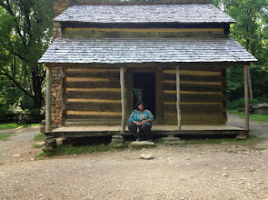Photo: me in front of the John Oliver cabin