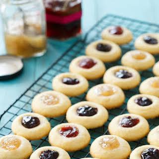 Jam-Filled Thumbprint Cookies.