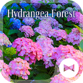 Beautiful Wallpaper Hydrangea Forest Theme