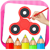 Fidget Spinner Coloring Book & Drawing Game