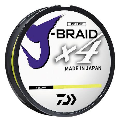 Daiwa J-Braid X4 Yellow