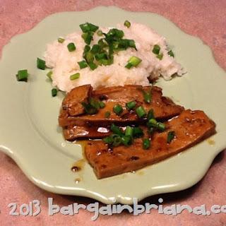 Baked Pomegranate Chipotle Tofu
