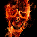 burning skull live wallpapers icon
