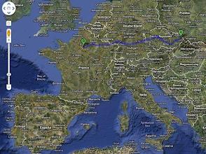 Photo: Z bodu A (Ostravy) je do bodu B ( Paříže) cca 1400 km.