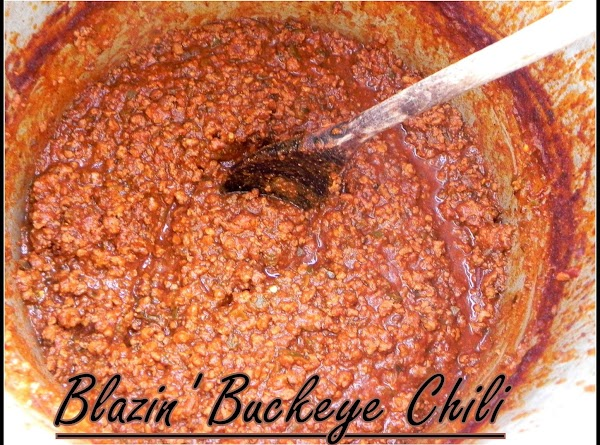 This is the finished batch of chili that is ready to serve up in...