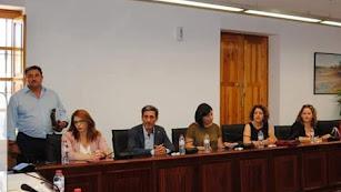 El grupo municipal socialista de Huércal de Almería, en una imagen de archivo.