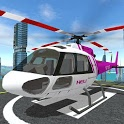 Futuristic Helicopter Rescue Simulator Flying icon