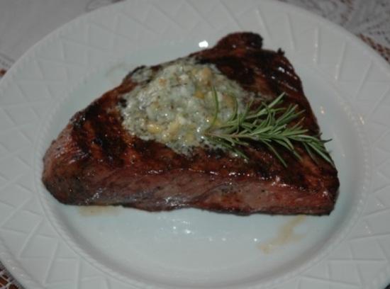 Gorgonzola-pine Nut-herb Butter Steak Recipe