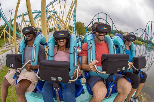SeaWorld Orlando's new virtual reality roller coaster opened to the public on June 16.
