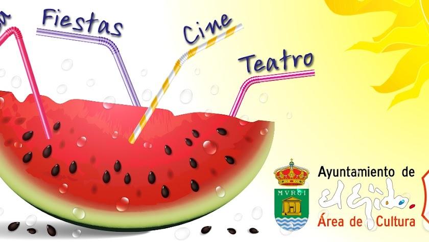 Imagen del cartel Verano Cultural 2019 en El Ejido.