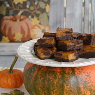 Pumpkin Spice-Chocolate Swirl Brownies.
