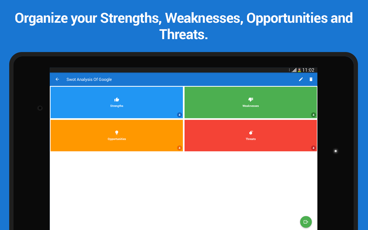 google android swot Google swot analysis (strengths, weaknesses, opportunities, threats), internal strategic factors, external strategic factors, recommendations.