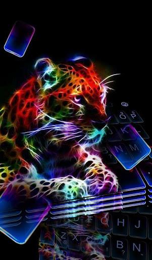 Sparkling Tiger Neon Keyboard Theme hack tool