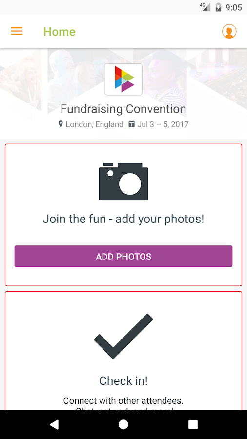 Fundraising Convention- screenshot