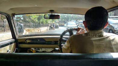 """Photo: In a taxi cab.  I had mad negotiation skills thanks to advice from Adarsh.  """"20 rupees, ha?  Nahi 40 ... 20"""""""