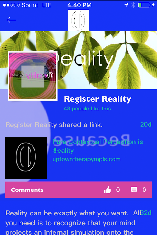 Register Reality- screenshot