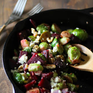 Honey Glazed Brussels Sprouts and Beets.