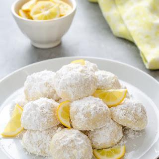 Meyer Lemon Greek Butter Cookies {Kourabiedes}