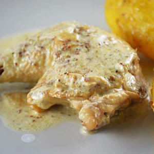 Chicken with Old Mustard, Cider, and Honey