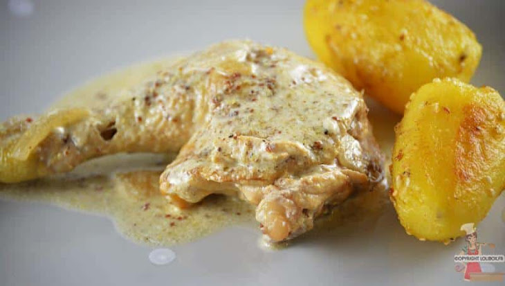 Chicken with Old Mustard, Cider, and Honey Recipe