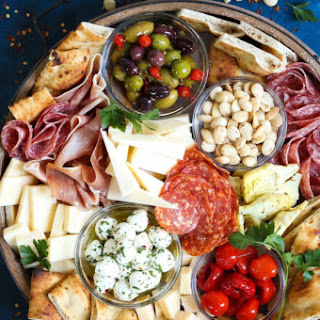 Antipasto Appetizer Cheese Board.