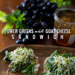 Power Greens and Goat Cheese Sandwich.