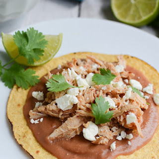 Slow Cooker Sweet and Spicy Turkey Tostadas