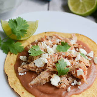 Slow Cooker Sweet and Spicy Turkey Tostadas.