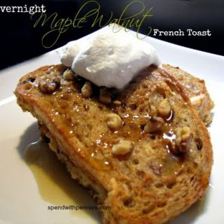 Easy Overnight Maple Walnut French Toast.