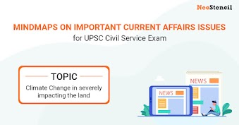 UPSC Current Affairs Issues - Mindmap : Climate Change in severely impacting the land