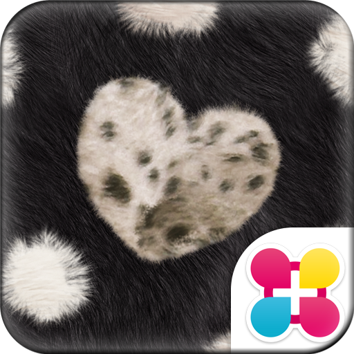 Chic Theme FUR HEART -BLACK- Icon