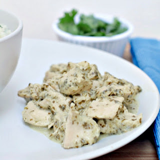 Slow Cooker Salsa Verde Ranch Chicken