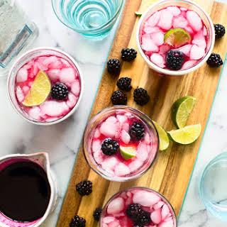 Blackberry Hibiscus Cooler Cocktail.