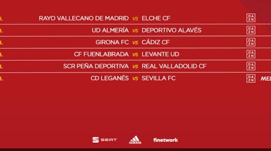 Almería-Alavés, sábado a las 12:00 horas